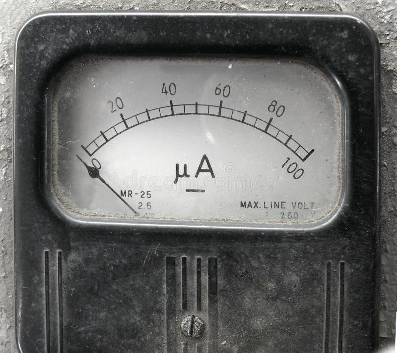De uitstekende Meter van de Ampère royalty-vrije stock afbeelding