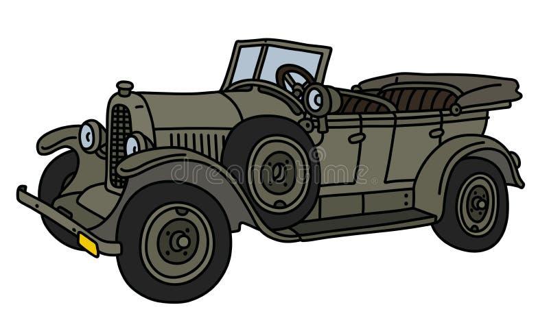 De uitstekende militaire open auto vector illustratie
