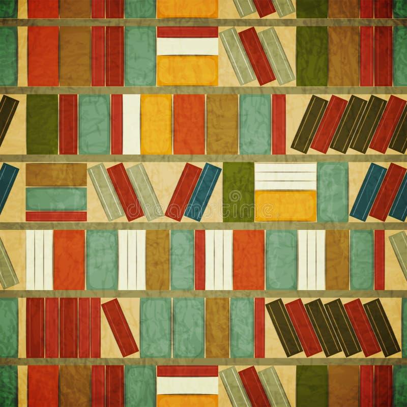 De uitstekende naadloze Achtergrond van het Boek stock illustratie