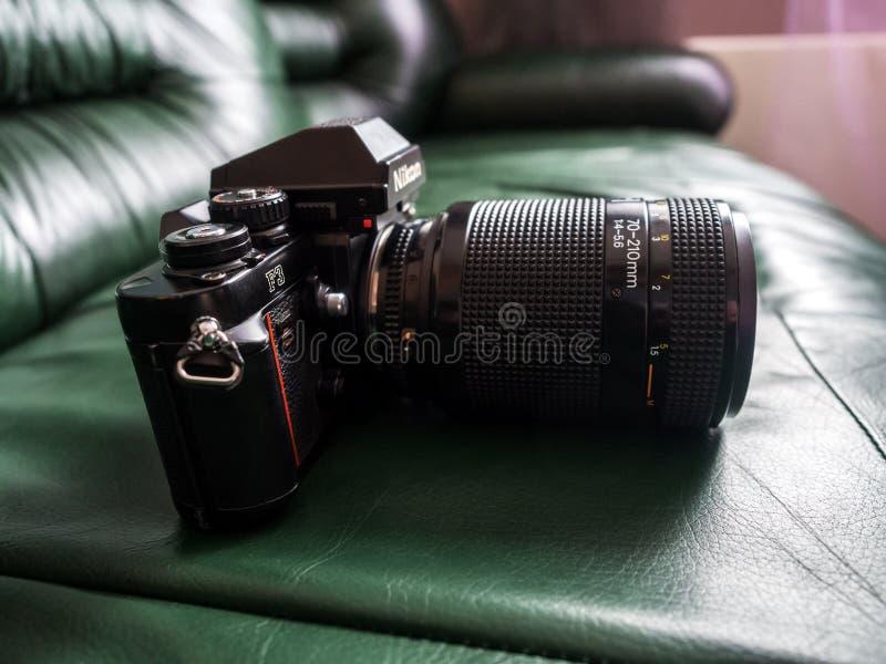 De uitstekende Nikon-F3 professionele camera van filmslr royalty-vrije stock foto's
