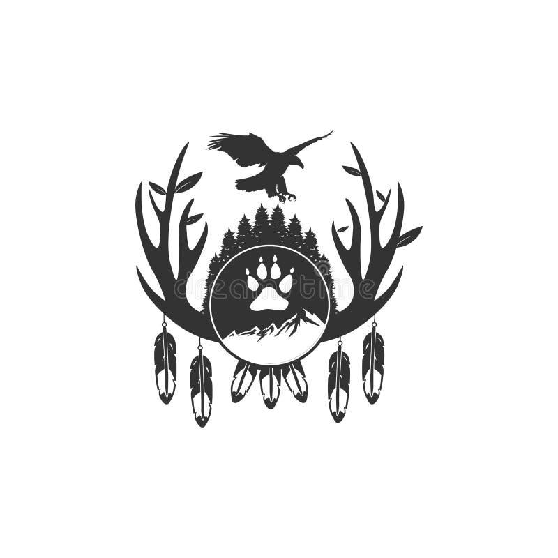De uitstekende ontwerpen van het adelaarsavontuur stock illustratie