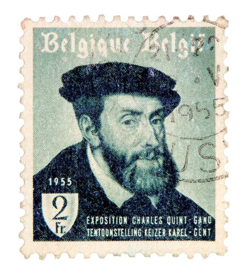 De uitstekende Postzegel van België royalty-vrije stock foto's