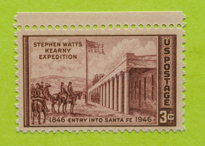De uitstekende postzegel van de V.S. stock foto