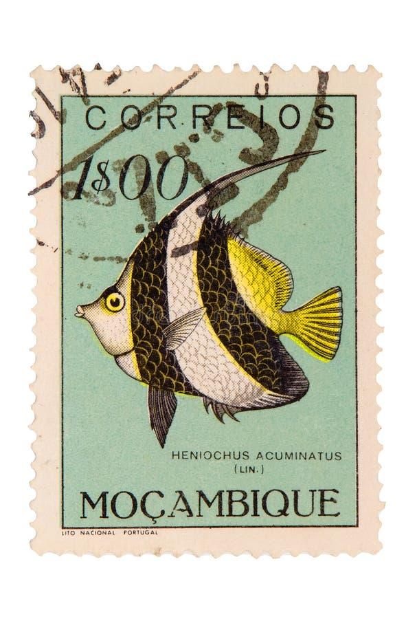 De Uitstekende Postzegel Van Mozambique Stock Afbeelding
