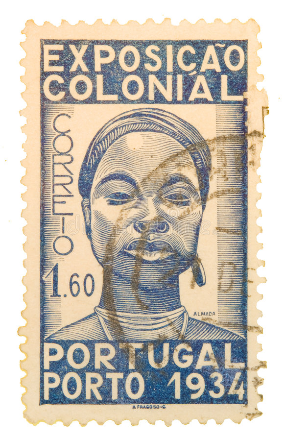 De uitstekende Postzegel van Portugal royalty-vrije stock afbeelding