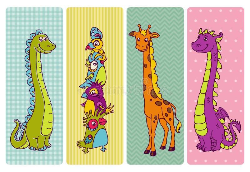 De uitstekende Reeks van de Banner van Kinderen stock illustratie