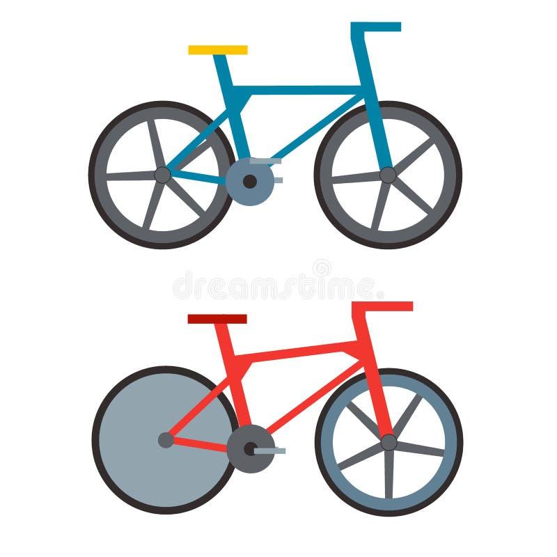 De uitstekende retro fiets en stijl antieke vector van de het pedaalrit van de sport oude manier grunge vlak vector illustratie