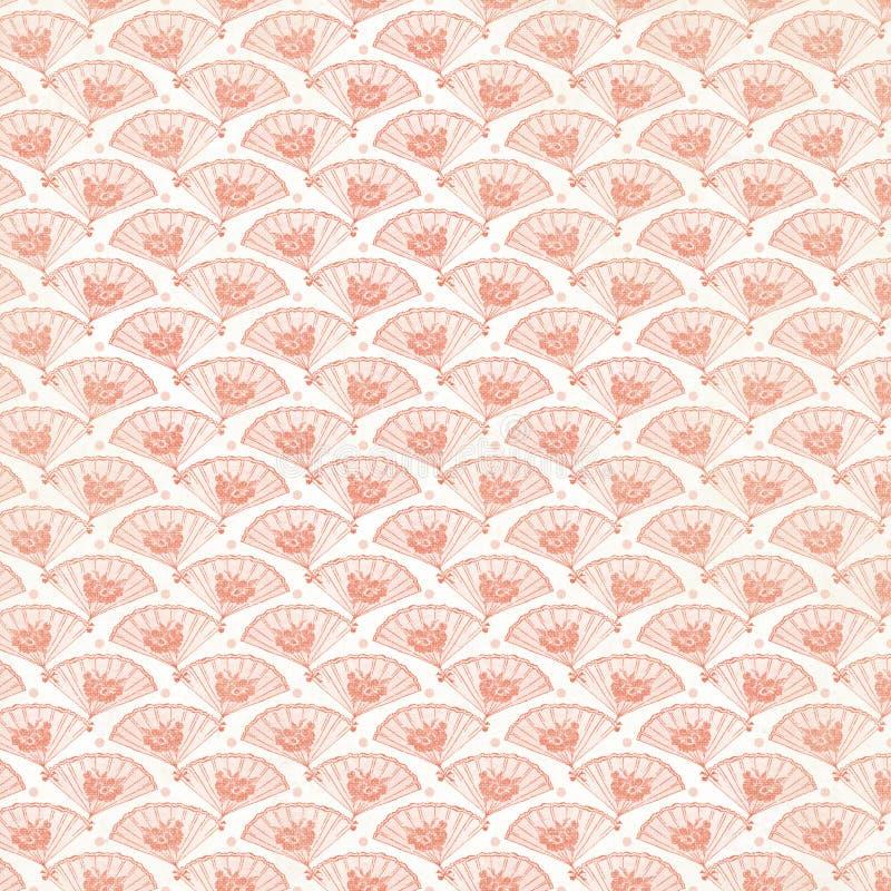 De uitstekende Roze Achtergrond van de Ventilator herhaalt behang stock foto
