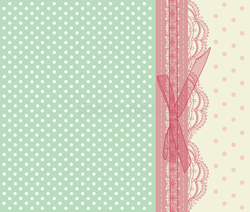 De uitstekende roze vector van de huwelijkskaart royalty-vrije illustratie