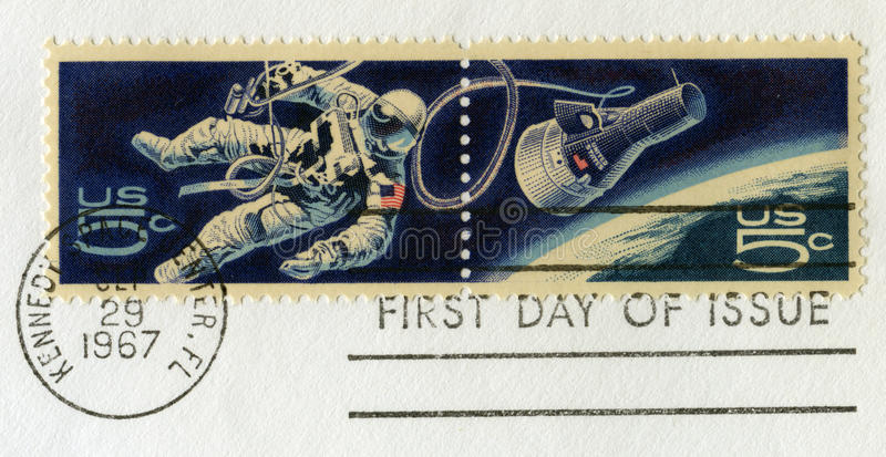 De uitstekende Ruimte Postzegels van de V.S. stock foto