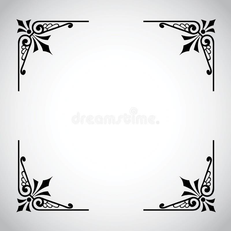 De Uitstekende SierReeks Van Het Frame Royalty-vrije Stock Foto's