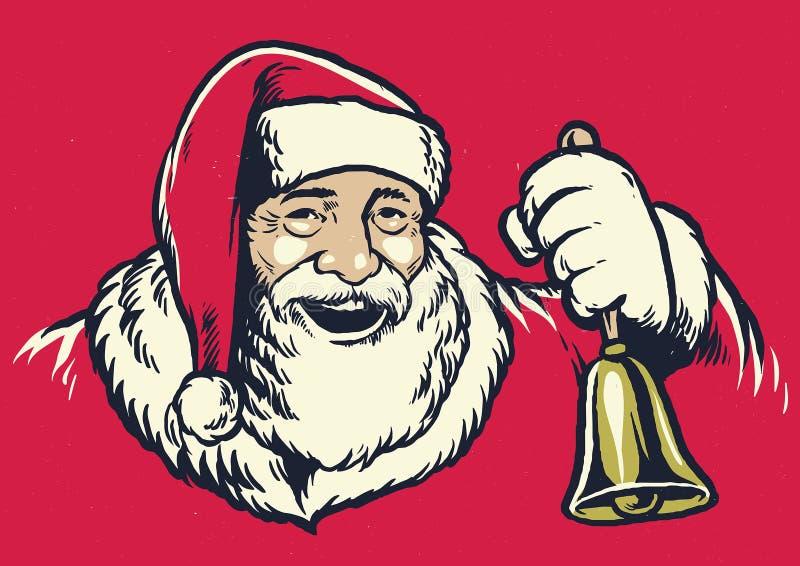 De uitstekende stijl van de handtekening van de Kerstman vector illustratie