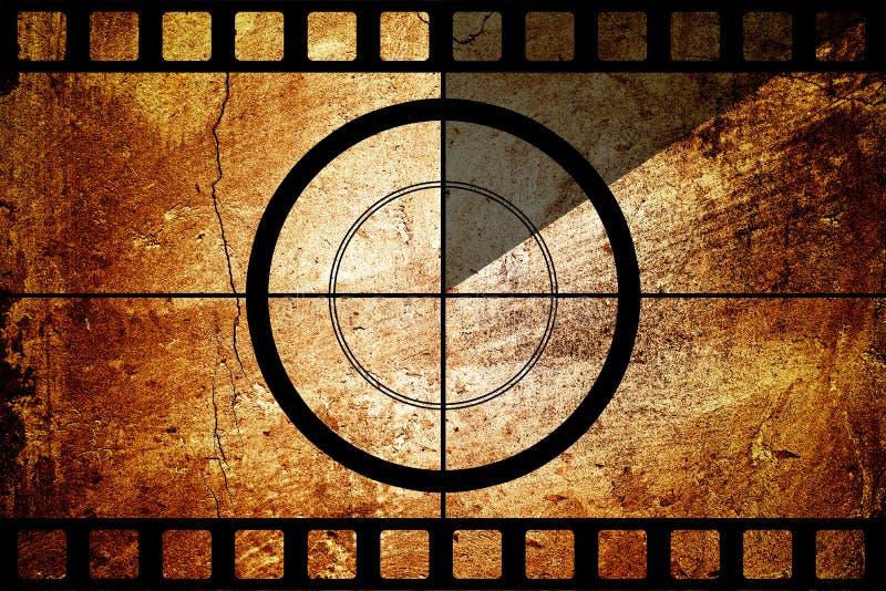 De uitstekende strook van de filmfilm met aftelproceduregrens royalty-vrije stock afbeeldingen