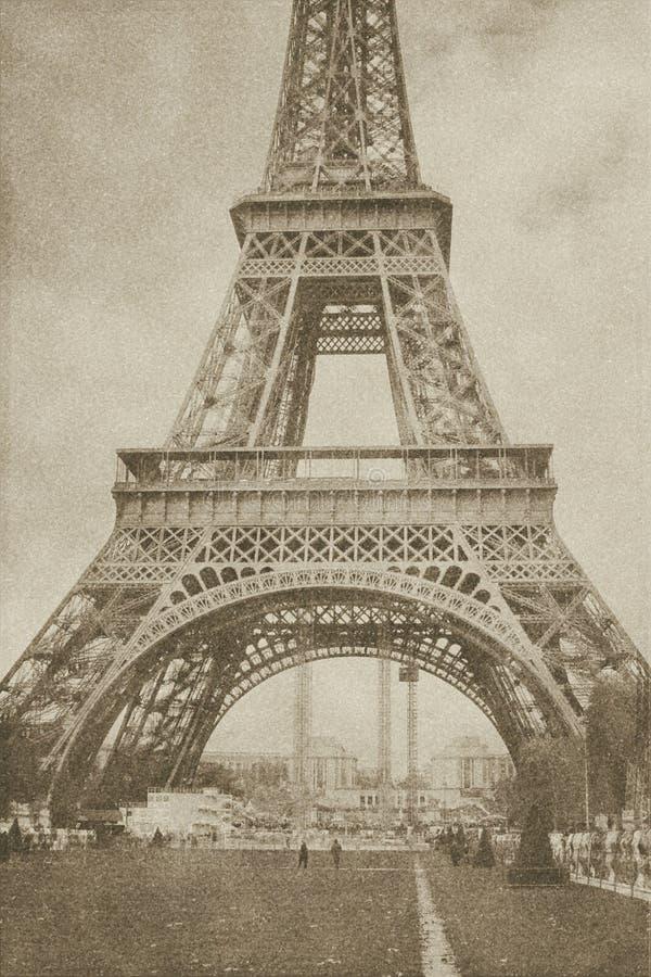 De uitstekende toren Parijs van Eiffel royalty-vrije stock foto