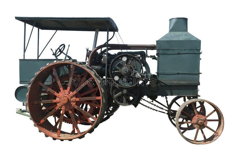 De uitstekende tractor van de olietrekkracht stock foto