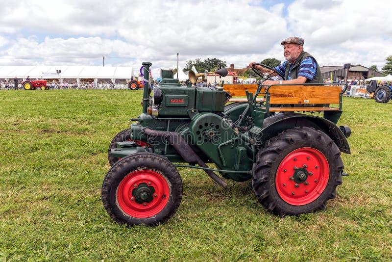 De uitstekende Tractor van Kaeble Allgaier R18 stock fotografie