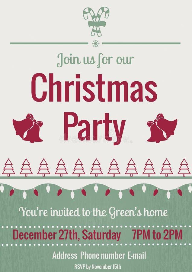 De uitstekende uitnodiging van de Kerstmispartij stock illustratie