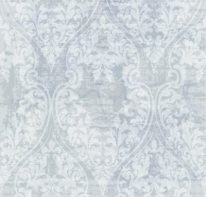 De uitstekende Vectorachtergrond van het Damastornament Modieuze patronen met vlekkendecor in pastelatekleuren royalty-vrije illustratie