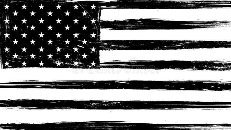 De uitstekende vlag van de grungev.s. vector illustratie