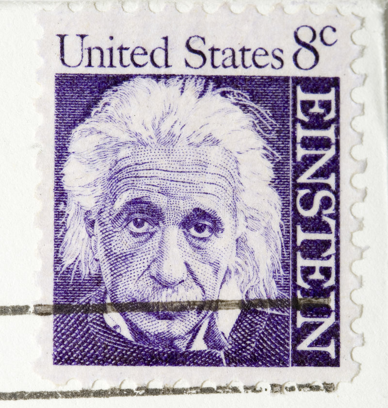 De uitstekende Zegel Albert Einstein van 1964 royalty-vrije stock afbeelding