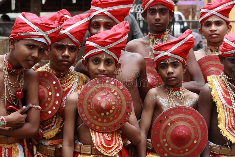 De uitvoerders van Velakali stock foto's