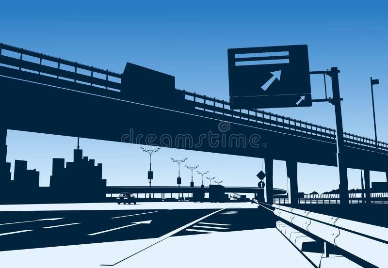 De Uitwisseling van de snelweg royalty-vrije illustratie