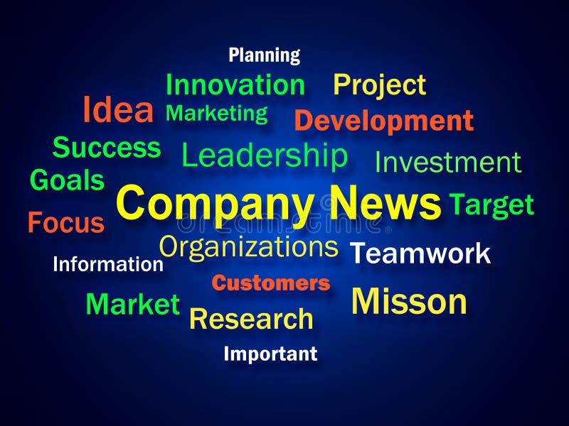De Uitwisseling van ideeën van het bedrijfnieuws toont wat binnen Nieuw is royalty-vrije illustratie
