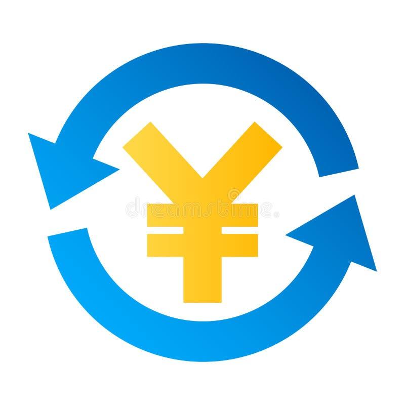 De uitwisselings vectorpictogram van de Yenmunt stock illustratie