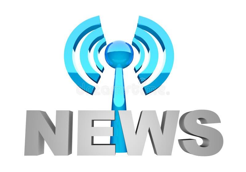 De uitzending van het nieuws vector illustratie