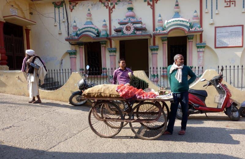 De Uiverkoper van India voor Tempel stock foto's