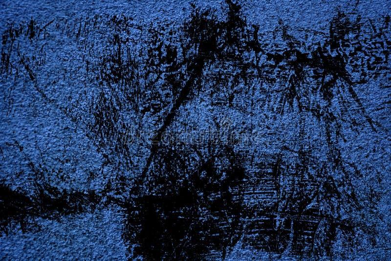 De ultra blauwe textuur van het grunge Concrete cement, steenoppervlakte, rotsachtergrond stock afbeeldingen