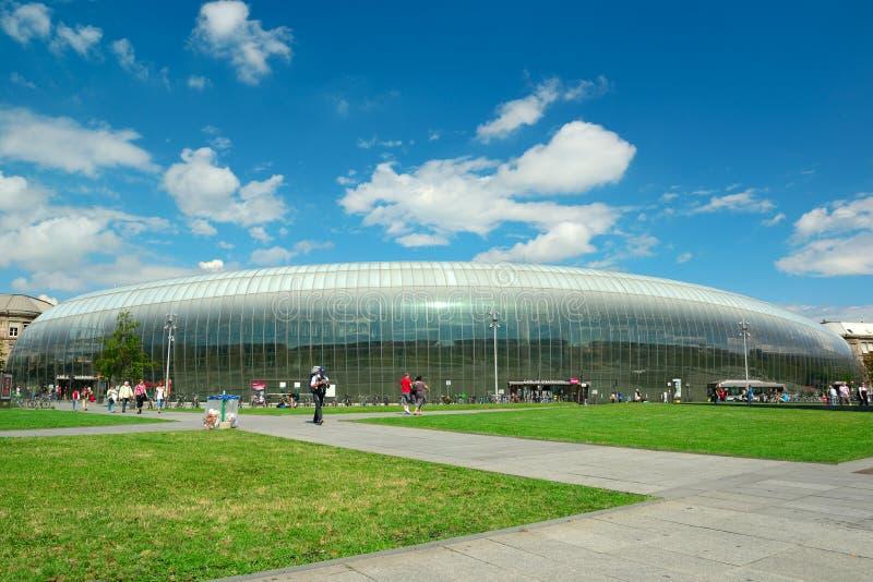 De ultra-modern bouw van het Centrale Station royalty-vrije stock afbeeldingen