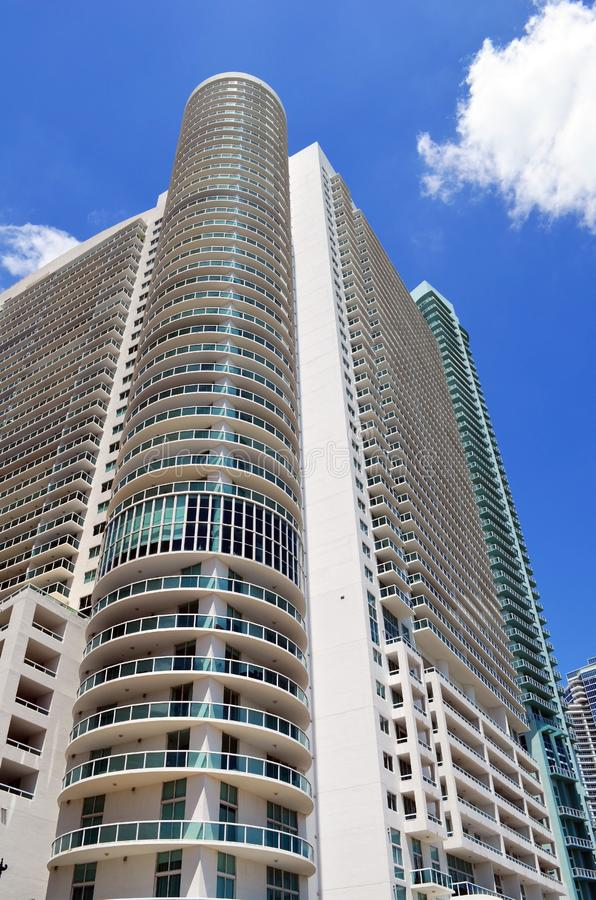 De ultra moderne torens van de huurflat in Miami van de binnenstad, Florida royalty-vrije stock fotografie