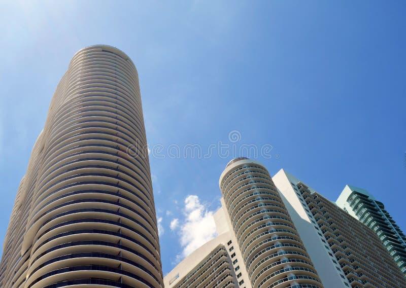 De ultra moderne torens van de huurflat in Miami van de binnenstad, Florida royalty-vrije stock foto's