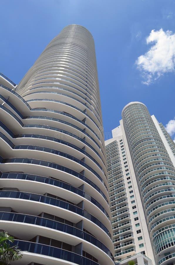 De ultra moderne torens van de huurflat in Miami van de binnenstad, Florida royalty-vrije stock foto