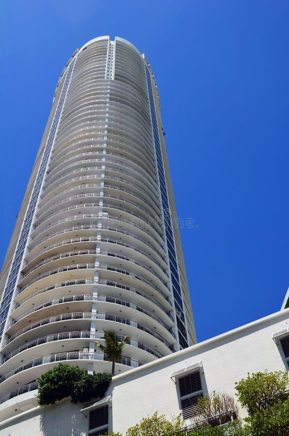De ultra moderne torens van de huurflat in Miami van de binnenstad, Florida royalty-vrije stock afbeelding