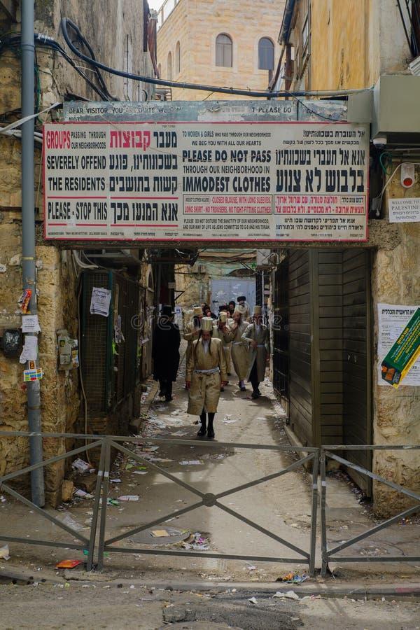 De ultra-orthodox buurt Mea Shearim, Jeruzalem royalty-vrije stock foto