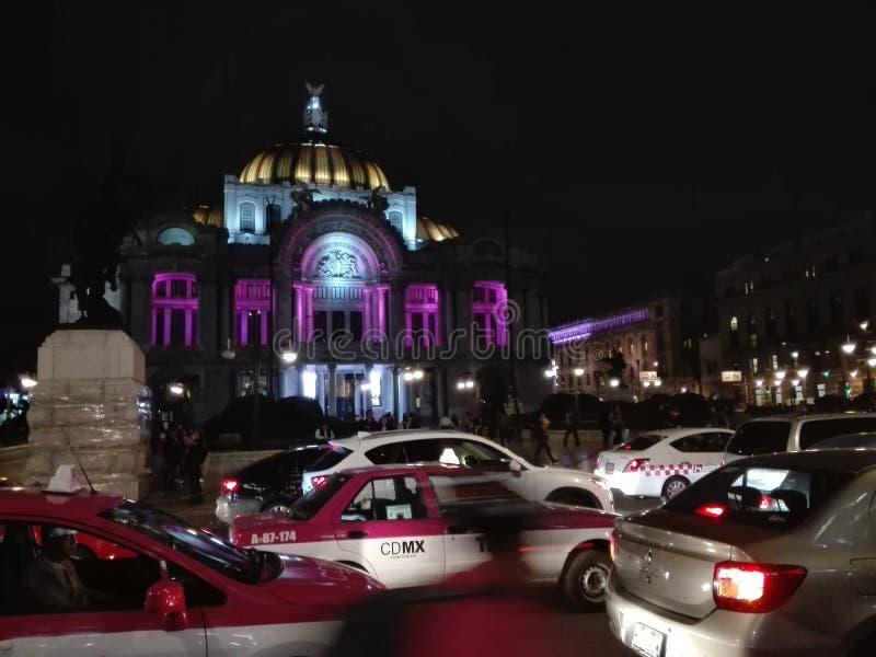 De uma noite em Cidade do México foto de stock royalty free