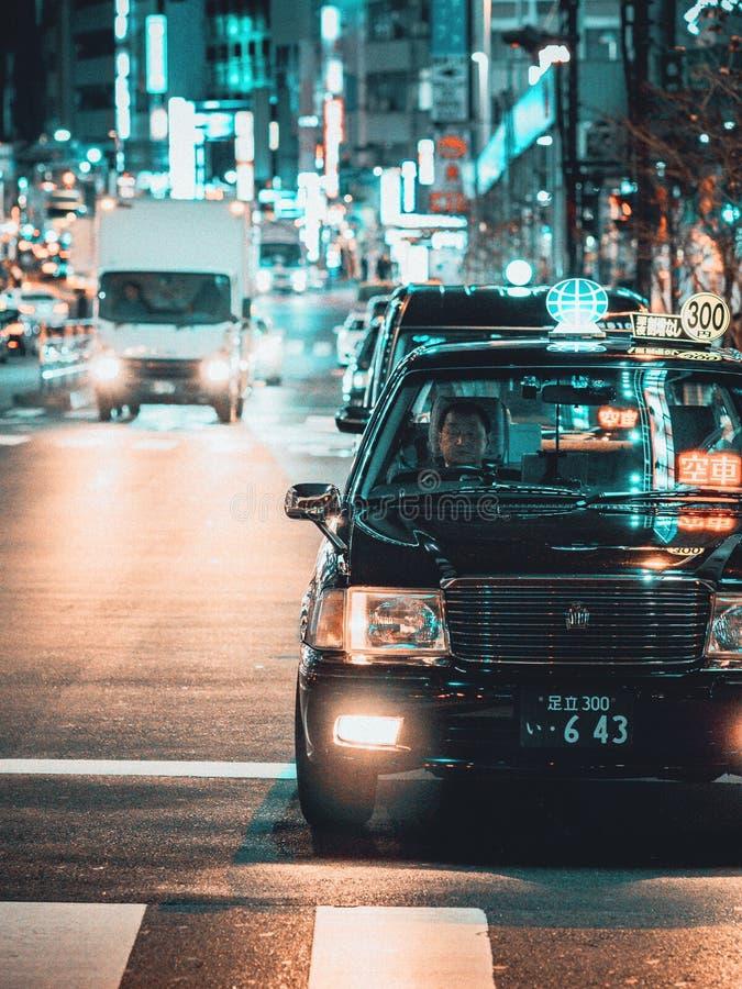 De uma noite no Tóquio foto de stock