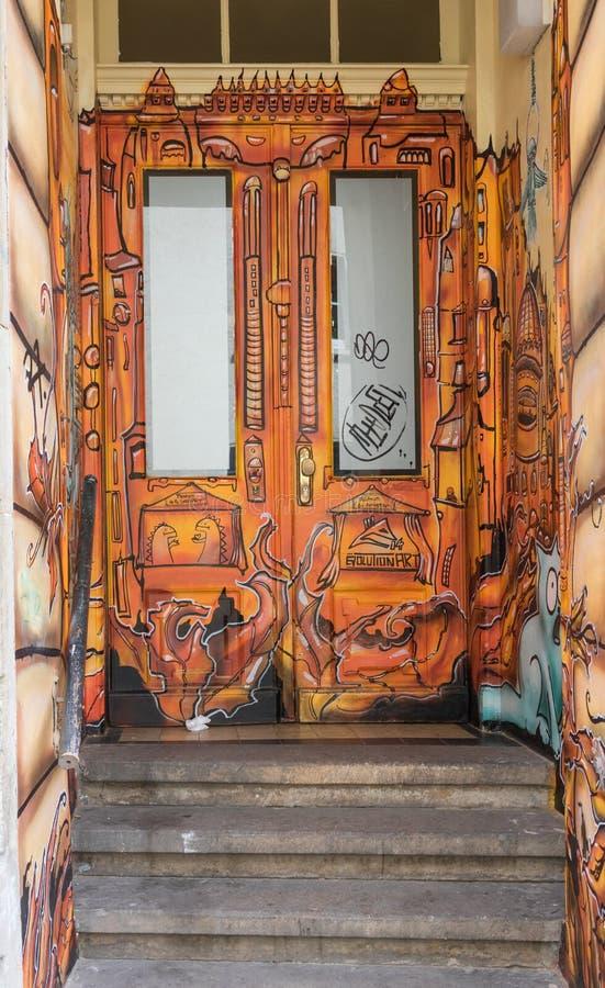 De underbara Dresden gatamålningarna vektor illustrationer