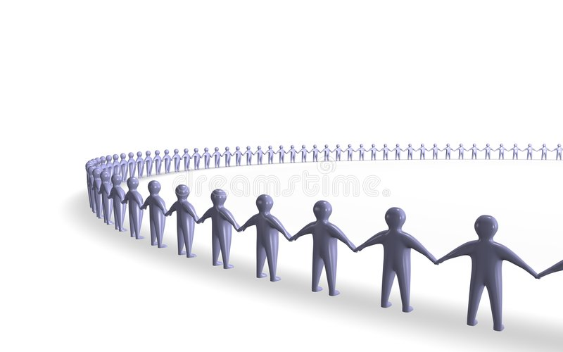 Download De unie van mensen stock illustratie. Afbeelding bestaande uit groep - 3249846