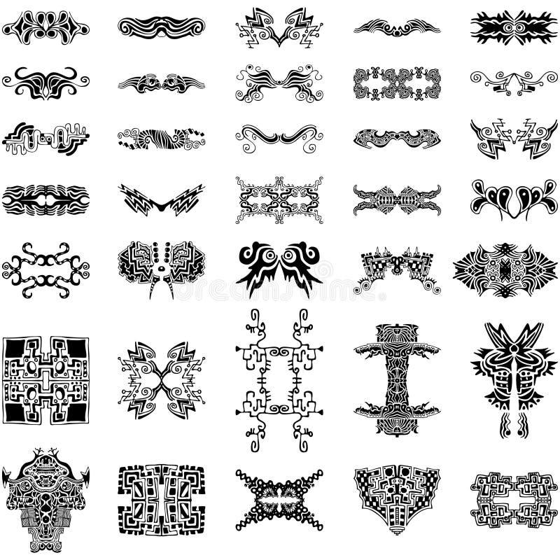 De unieke Hand-drawn VectorInzameling van Elementen royalty-vrije illustratie