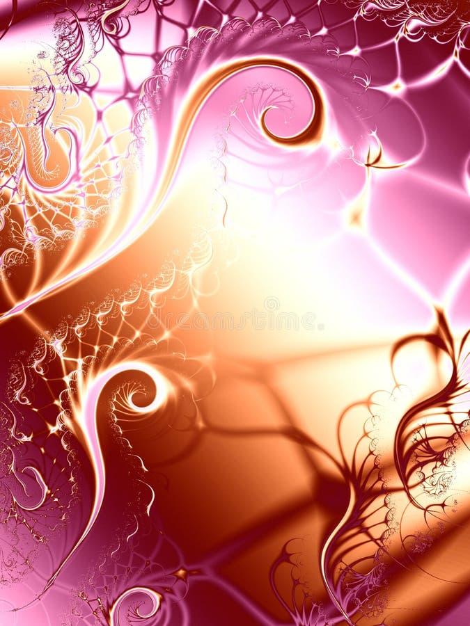 De unieke Textuur van de Wervelingen van Wijnstokken stock illustratie