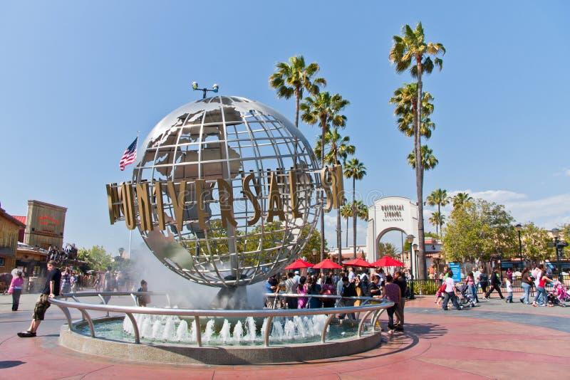 De universele Bol van Hollywood van Studio's in Los Angeles stock foto's