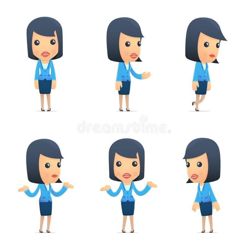 De universele karakters in verschillend stelt Manager vector illustratie