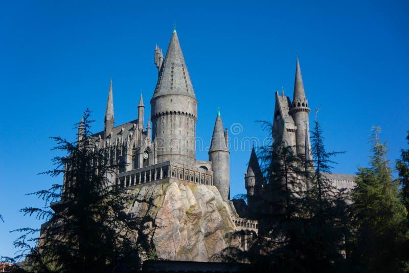 De universele School van Studio'shogwarts van Hekserij en Tovenarij Harry Potter stock afbeeldingen