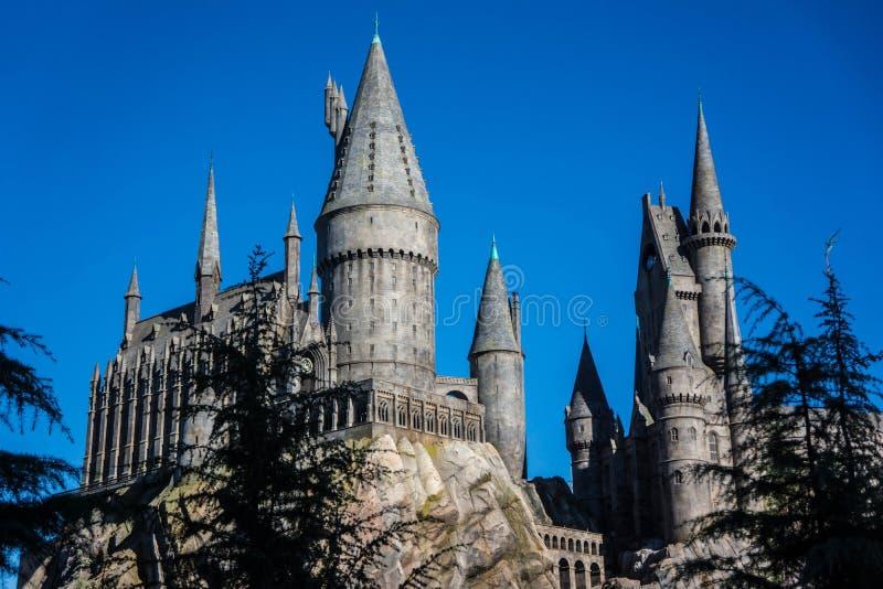 De universele School van Studio'shogwarts van Hekserij en Tovenarij Harry Potter stock afbeelding