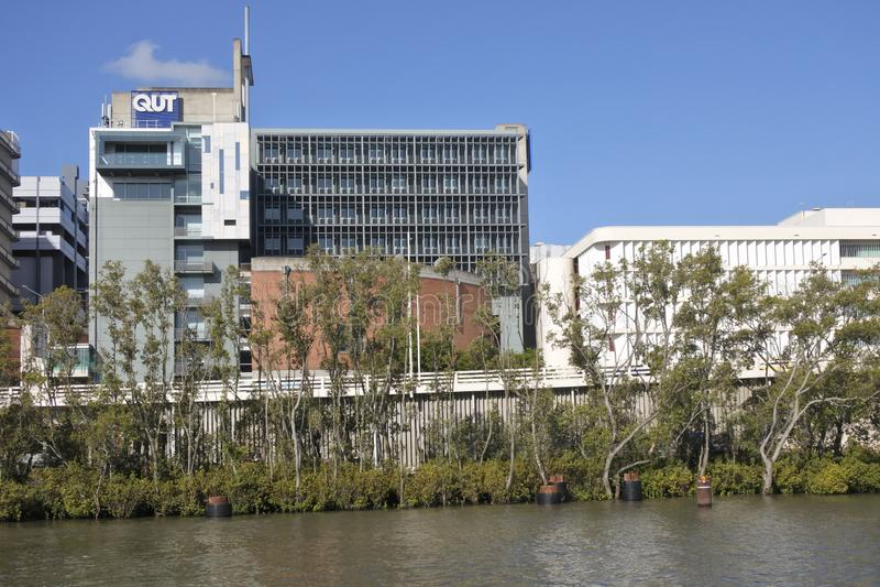 De Universitaire bouw van QUT buiten in Brisbane, Queensland Australië royalty-vrije stock afbeeldingen