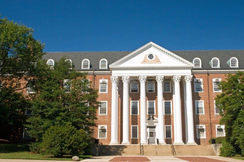De universitaire campusbouw stock fotografie