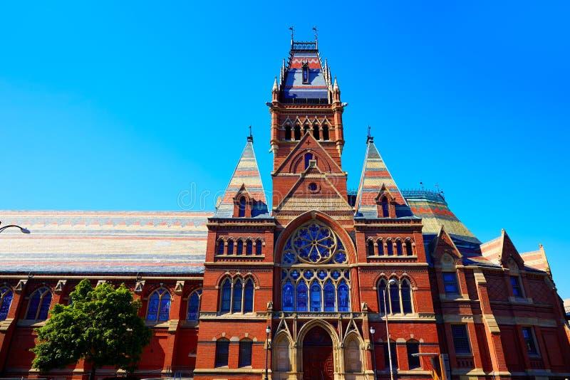 De Universitaire historische bouw van Harvard in Cambridge stock foto's